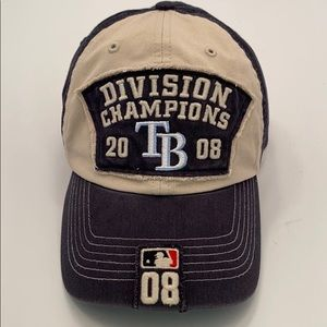 47 MLB Authentic Tampa Bay 2008 Division Champ Hat